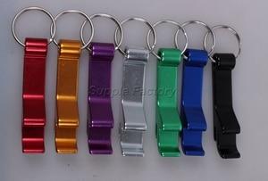 Image 5 - 200pcs/lot promotion customed printed logo gift Metal aluminum alloy bottle opener metal keychain laser LOGO