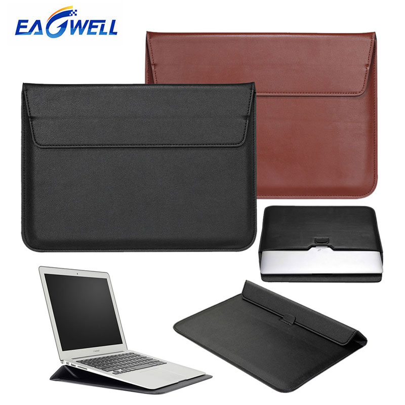 Eagwell Universal Leather Sleeve Bag Pouch Case For 11 13 15 inch Laptop For Macbook Air Pro Notebook Briefcase Sleeve Bag Cover