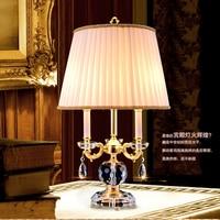 light study room Modern Crystal Table Lamps For Living Room Bedroom Iron Chrome Lamp shades Bedside Design Desk Light crystal