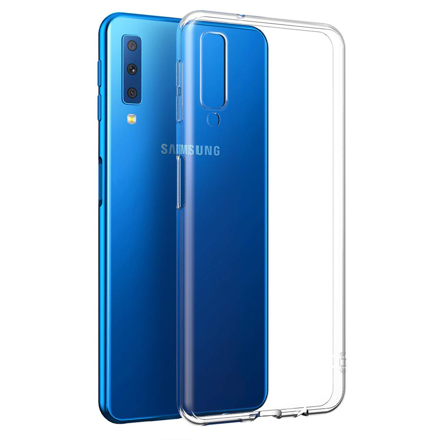 Clear Phone Case For Samsung Galaxy A7 A9 2018 Case TPU Cover For Samsung Galaxy A7 2018 A9 2018 Silicone Case Coque in Half wrapped Cases from Cellphones Telecommunications