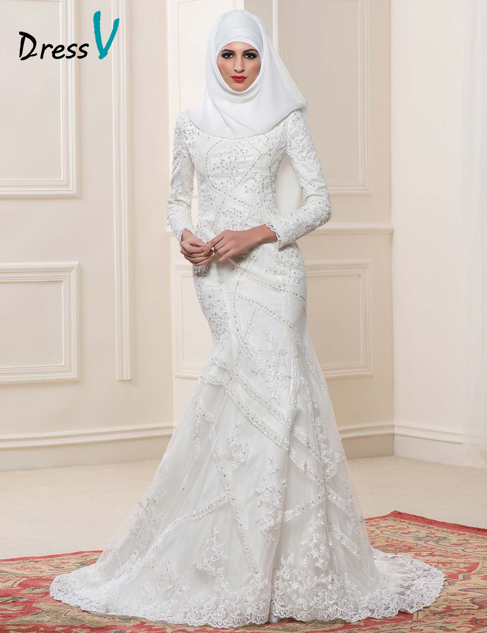 Online get cheap islamic bride alibaba group for Cheap wedding dresses in dubai