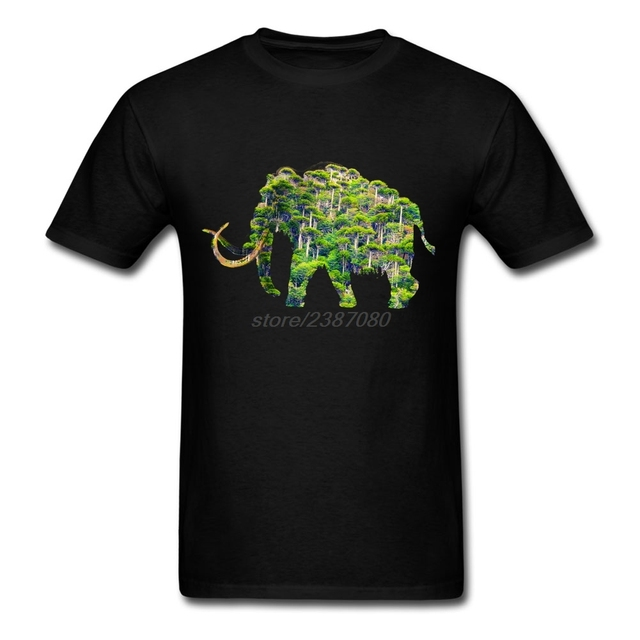 Clothes Men's Mammoth Forest Cotton Brand Cool Tees Man Natural Cotton Lowest Price T Shirts