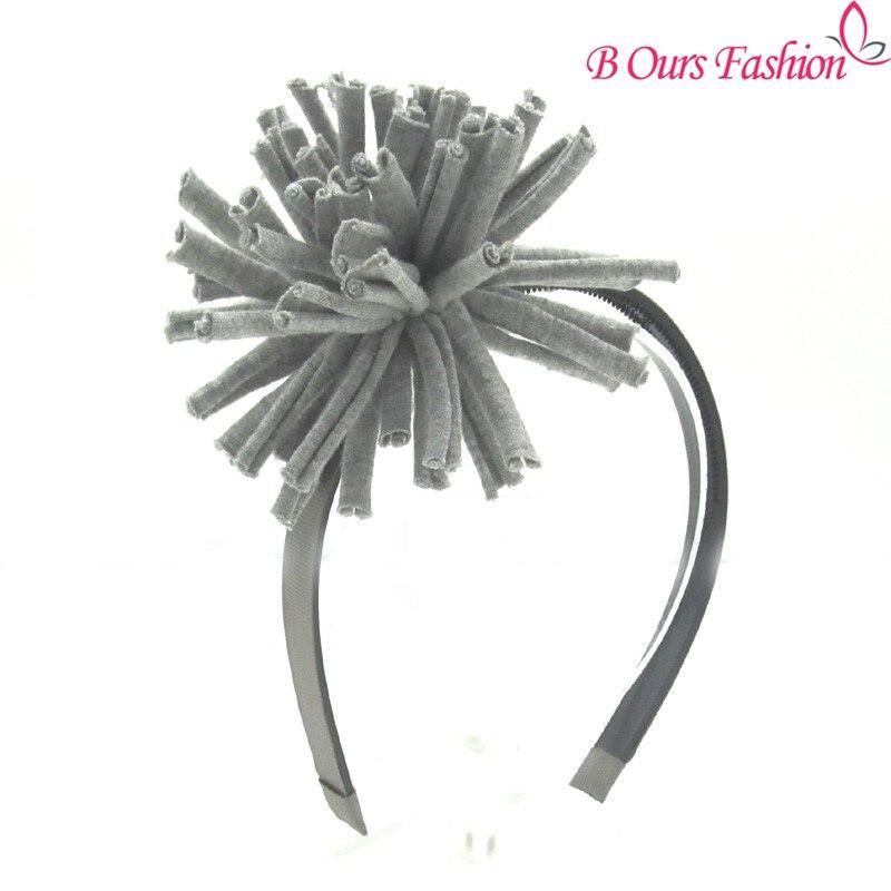 где купить 2017 fashion cotton fabric pomp OEM shag hairband children fashion hair accessories plastic band with gripes teeth по лучшей цене
