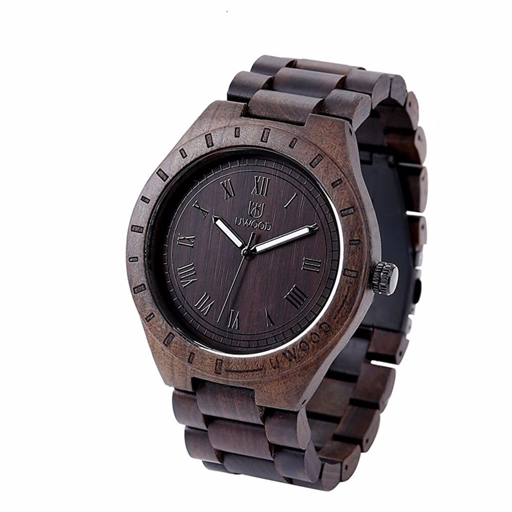 Top Brand Designer Vintage Black Brown Wood Watch Men With Ebony Bamboo Wood Face With Zebra Bamboo Wood Strap Japanese movement gorben round vintage zebra wood case men watch with ebony bamboo wood face bamboo wood strap bracelet watches cool modern gifts