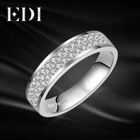 EDI классический 0.32 cttw круглой огранки h/SI Природный кольцо с бриллиантом 14 К 585 Белое золото группы для парня для женщин унисекс Ювелирные укр