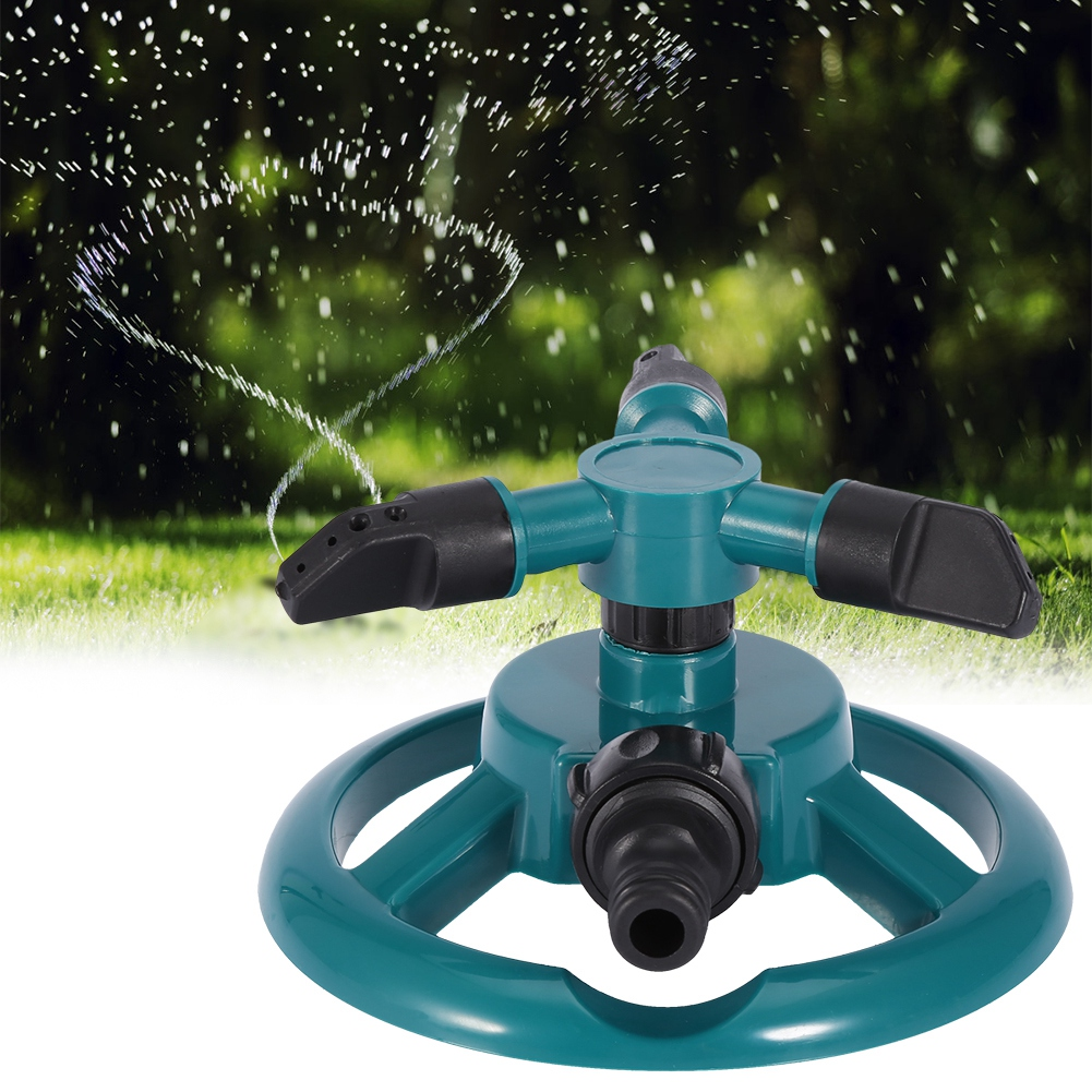 Garden Sprinklers Automatic Watering Grass Lawn 360 Degree 3 Nozzle Circle Rotating Irrigation System