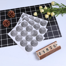 120pcs/lot Baking Sticker DIY Decorative Gray Thank You Round Cake
