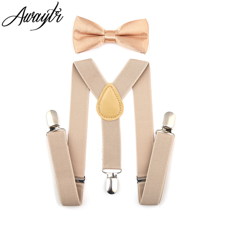 Awaytr Kids Suspenders 2017 Boys Boys Adjustable Elastic Clip On Baby - Αξεσουάρ ένδυσης - Φωτογραφία 4