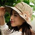 Senhoras Da Moda Verão Chapéus Chapéu de praia Feminino Chapéu de Sol para As Mulheres Balde Chapéu Sombreros Verano Mujer Elegante da praia da Palha chapéu