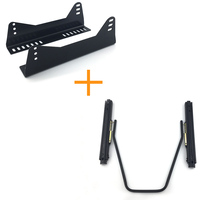 Universal Auto Replace parts Iron stainless lightweight strength seat Dual Rails slider with seat side mounting