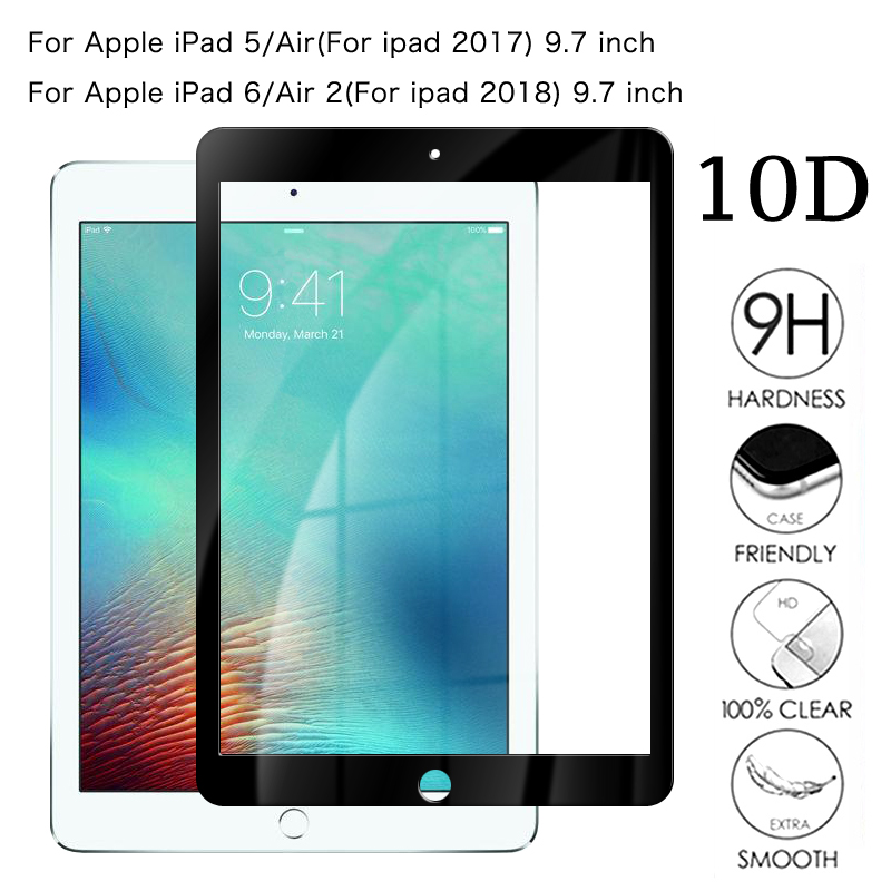 """Glass transparent Screen Protector For Apple iPad 5//6th Gen 9.7/"""" Air 1//2 Pro 9.7"""