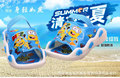 2017 Summer clearance baby's sandals small yellow people Minions rubber sandals flat sandals slippers beach sandals Specials