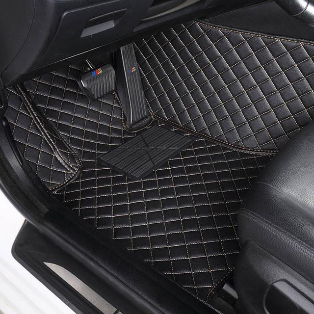 Alfombrillas de suelo de coche personalizadas para Jeep Grand cheroki Wrangler Patriot cheroki Compass commander accesorios de coche estilo de coche
