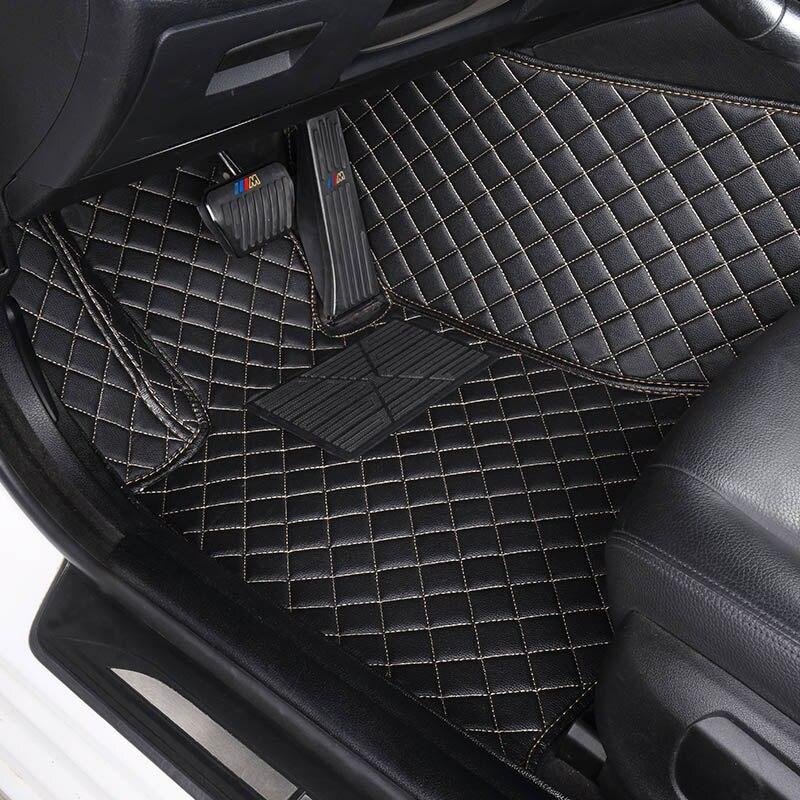 Tapis de sol de voiture sur mesure pour Jeep Grand Cherokee Wrangler Patriot Cherokee boussole commander accessoires de voiture style de voiture - 2