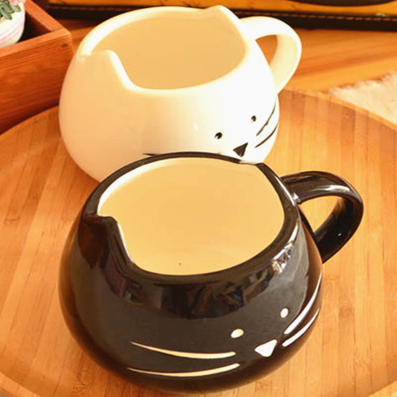 Lovely Cute <font><b>Little</b></font> White & <font><b>Black</b></font> Cat Coffee Milk Ceramic Mug <font><b>Cup</b></font> Christmas Birthday Best Gift,Set of 2