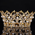 Big European Royal Crown Gold Or Silver Rhinestone Tiara Super Large Queen Crown Wedding hair Accessories
