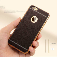 Ultra Thin Back Cover Gold Plating TPU Soft Skin Case For IPhone 7 6 6S Plus