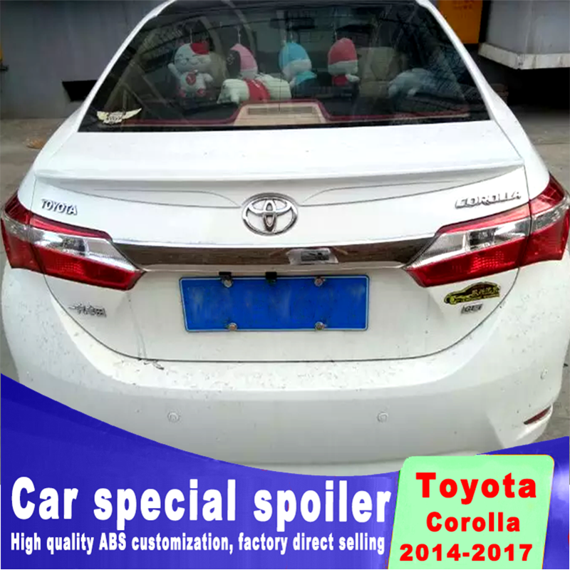 3 styles for toyota Corolla 2014 2015 2016 2017 rear trunk Spoiler high quality ABS material Decorative landscaping spoiler3 styles for toyota Corolla 2014 2015 2016 2017 rear trunk Spoiler high quality ABS material Decorative landscaping spoiler