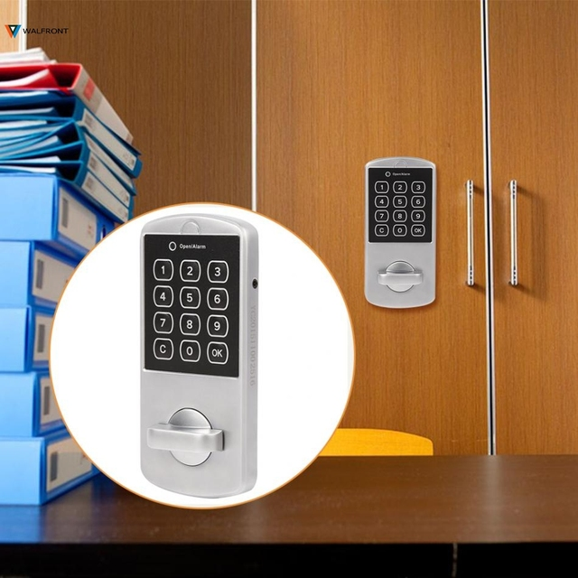 Touch Keypad Password Key Access Door Lock Digital Electronic Security Cabinet Coded Combination Locks For Locker & Touch Keypad Password Key Access Door Lock Digital Electronic ...