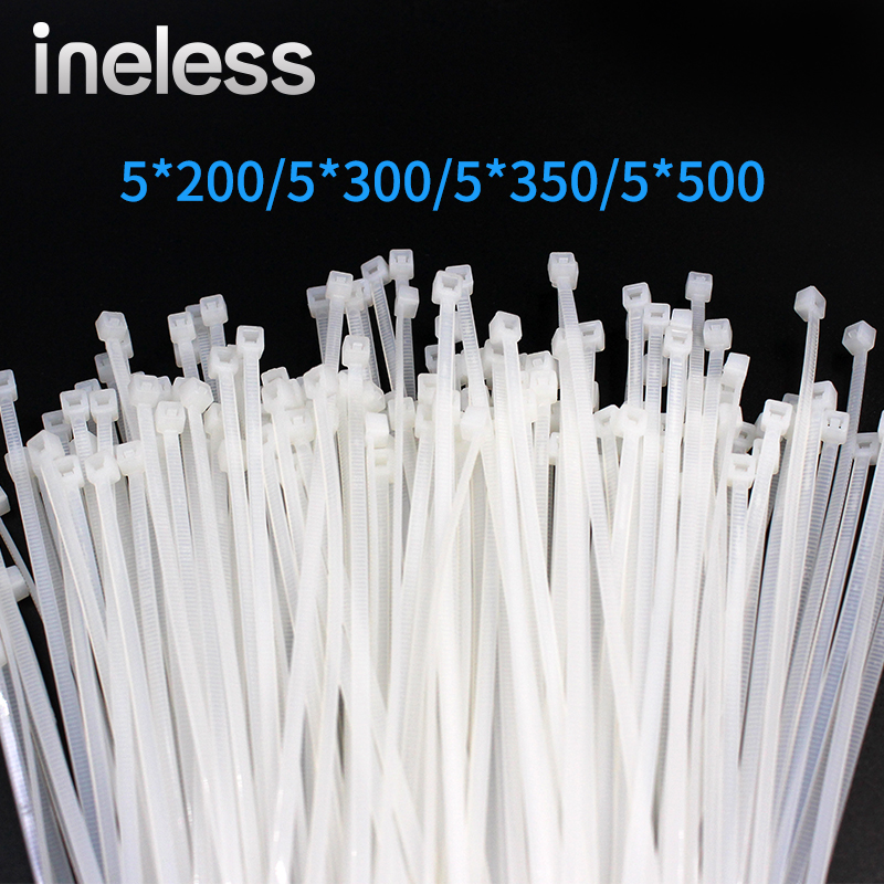 100Pcs bag 5 500mm high quality width 6 8mm White color Factory Standard self locking Plastic