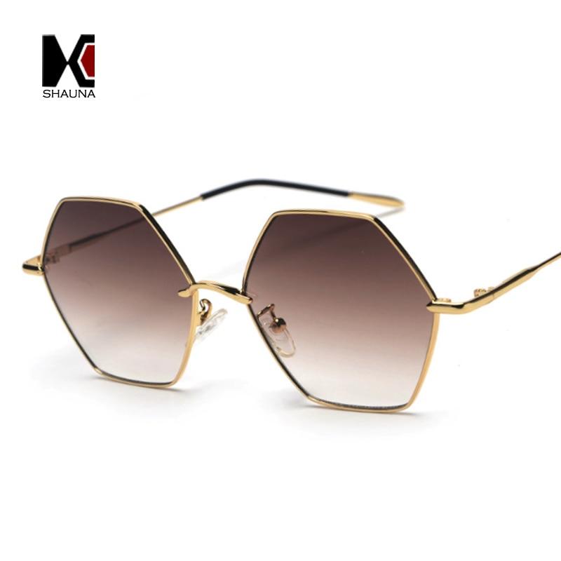 9f1b077f3ef Detail Feedback Questions about SHAUNA 12 Colors Anti Allergy Silica Gel  Temple Tip Metal Hexagon Sunglasses Women Fashion Clear Lens Eyeglasses  Frame Men ...