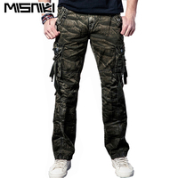 MISNIKI 2018 Spring Autumn Tactical Trousers Men Casual Camouflage Cargo Pants For Men