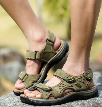 Pic Sapatos De Hot Verão Moda As 2018 Metros Dos Homens Praia Grande Alta 38 as Venda 45 Sandálias Nova Lazer Couro Tamanho A Qualidade Pic Anq7S8YExw