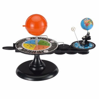 1 Pc/Box Fasinating Interesting Manual Earth Moon Sun Three-Globe-Revolution Device for Children Physics & Mathematics Education image