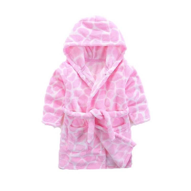 Flanellen kinderpyjama. De badjas met roze stenen blokpatroon. Roze - Kinderkleding - Foto 2