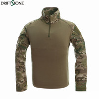 Camouflage Military Uniform US Army Combat Shirt Cargo Multicam Airsoft Paintball Militar Tactical Clothing With Knee