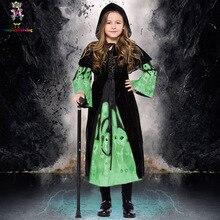 VinTopmaxi Halloween Scary Girl/Kids Skull Costume Night Glitter Witch Dress High  sc 1 st  AliExpress.com & Buy kids witch halloween costume and get free shipping on AliExpress.com