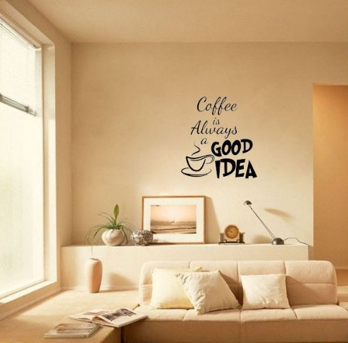 Coffee is always a good idea wall decals vinyl stickers - Wall sticker ideas for living room ...
