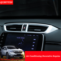 Car-Styling Internal Decorations Stickers Conditional Panel Decorative Sequins Auto Interior Frame For Honda CRV CR-V 2017 2018