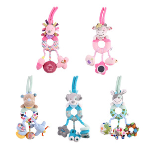 Image 5 - Bearoom Rattles Stroller Toy Cute Mobile Baby Toys Musical Stroller Doll Soft Handing Bell Crib Rattle Toddler Learning Resource