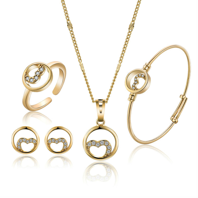 Gold-Color Children Heart Jewels