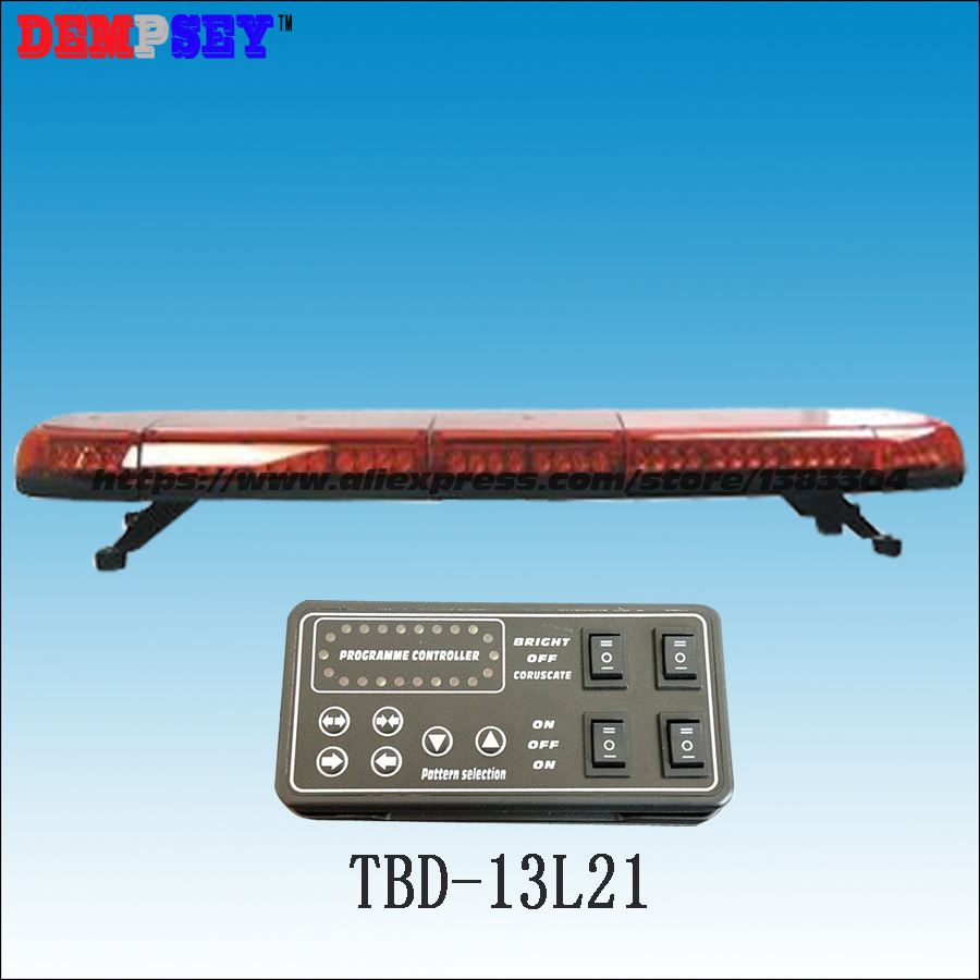 TBD-13L21 High quality Super bright Red LED lightbar,DC12V/24V Car Roof Flash Strobe Fire/police emergency 49warning lightbar