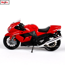 Maisto 1:18 Kawasaki ZX-14R original authorized simulation alloy motorcycle model toy car