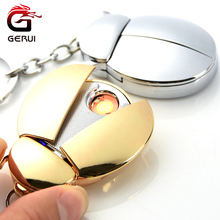 GERUI Design Funny Beetle USB Lighter font b Electronic b font Rechargeable Side Switch Windproof Lighter