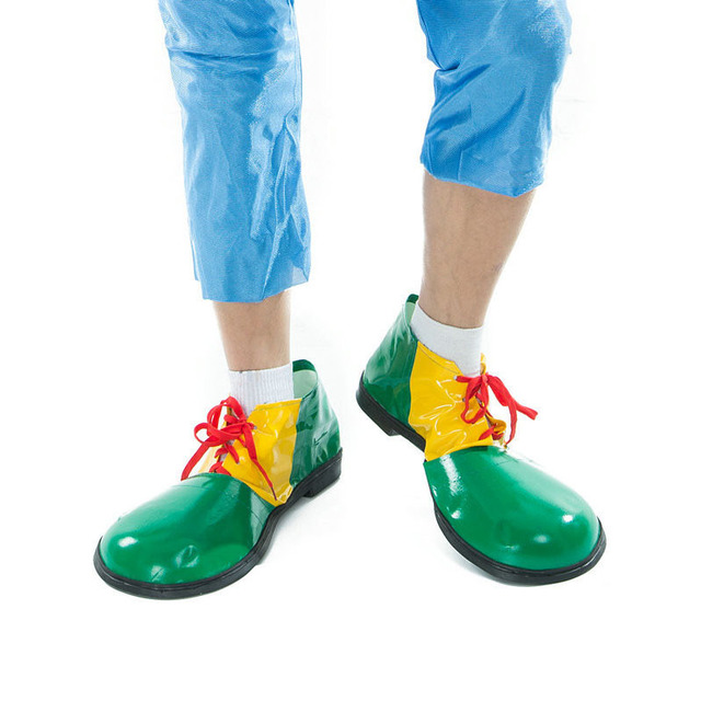 Funny Artificial Leather Clown Shoes Adults Cosplay Clown Shoes Costume Props Halloween Party Dress Up Decoration 3