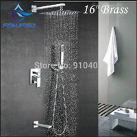 And Retail Promotion Modern 16 Rain Shower Faucet Square Shower Head Tub Spout Single Handle