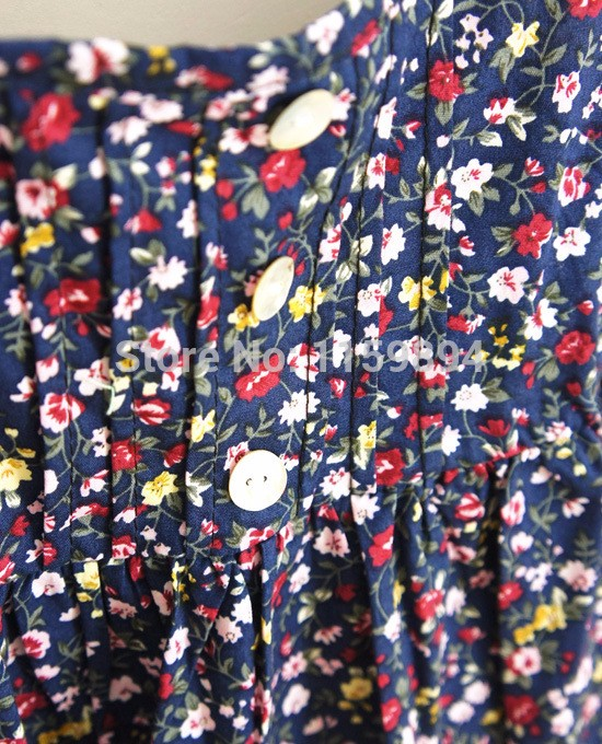 Summer-New-2015-plus-size-clothing-fashion-Slim-cotton-sundresses-dot-suspenders-floral-dress-26-color (1)