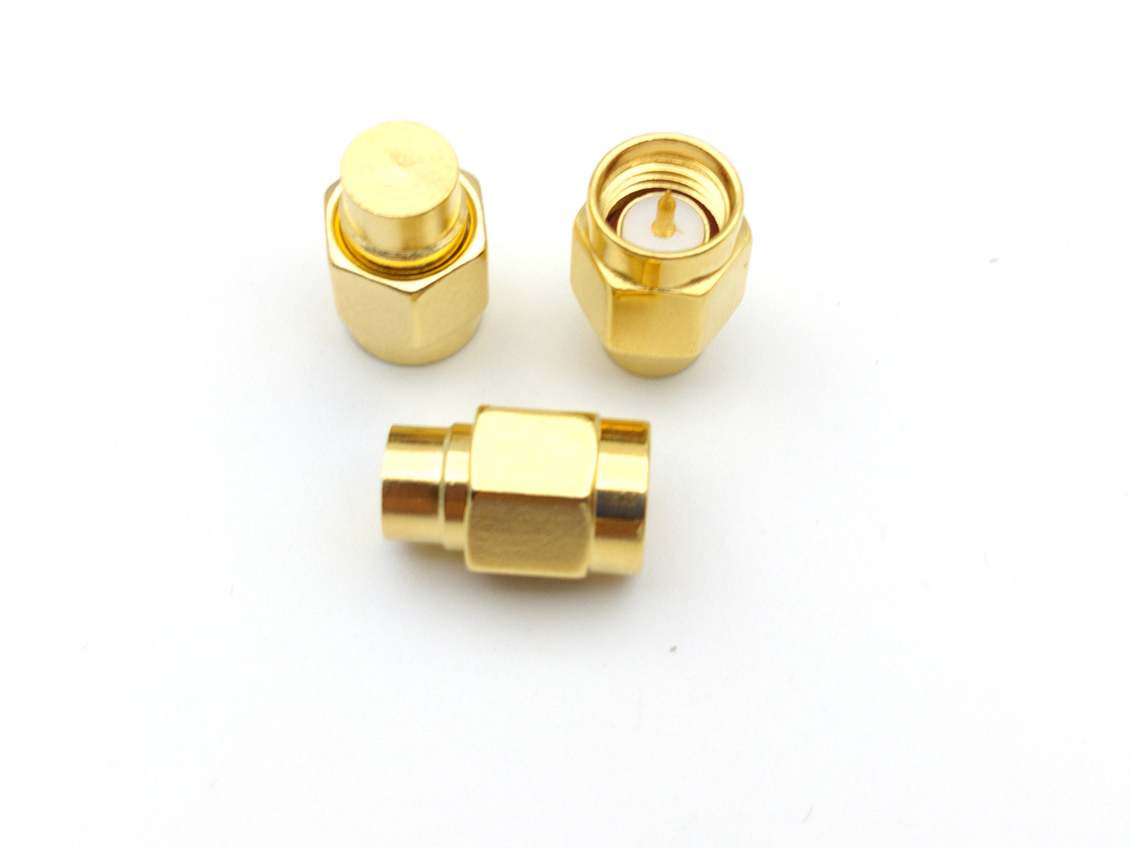 50 pcs brass SMA 50 OHM Coaxial Termination LOADS SMA male ADAPTER