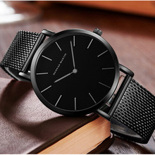 Simple Ultra Thin Watches Mens 2019 Luxury Top Brand Quartz Business Wrist Watch Steel Mesh Waterproof Sports Clock