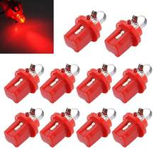 TOYL 10 * AMPOULE LED COMPTEUR TABLEAU DE BORD B8-5D T5 avec support ROUGE TUNING auto voiture lumiere