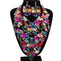 Lan дворец boutiquei большой ювелирные наборы горячая продажа для свадьбы эмаль ювелирные изделия австрийский хрусталь ожерелье и серьги
