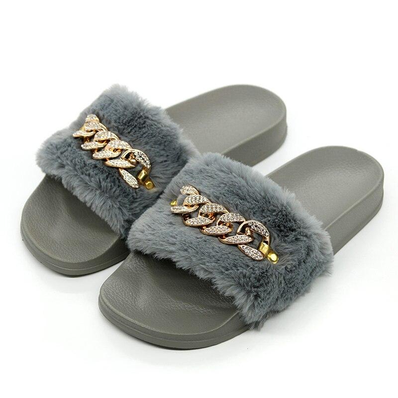Dropwow COOLSA New Arrival Women s Furry Slippers Faux Fur Slippers ... 3bdbaef3569f