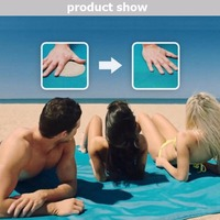 3 Colors 150 200cm 200 200cm Sand Free Beach Mat Waterproof Foldable Outdoor Picnic Hiking Pads