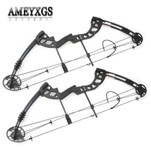1set 38inch Compound Bow 30-55lbs Metal Alloy Hunting Bow IBO 310FPS Pulley Bow For Outdoor Sports Shooting Arcehry Accessories 1set metal alloy 38inch compound bow 30 55lbs adjustable pulley bow for outdoor hunting sports shooting training archery bow