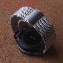 Shark Mesh Correa de reloj de acero inoxidable para hombre y mujer, brazalete de plata negra, compatible con relojes inteligentes, 18mm, 20mm, 22mm, 24mm, plegable