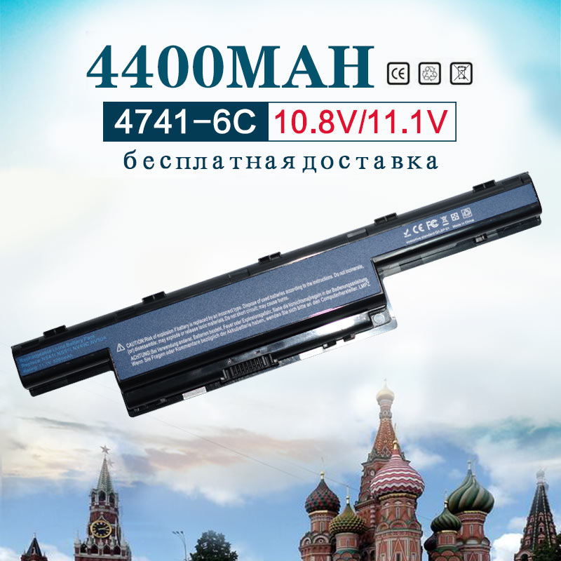 4400 mAh batería del ordenador portátil para Acer AS10D31 AS10D3E AS10D41 AS10D51 AS10D5E AS10D61 4741, 5560 de 5750 AS10D71 AS10D75 5750G AS10D81